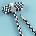Racing Car Party Favor ~ Pencil with large double flag eraser top